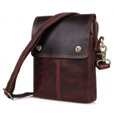 Бордовая мужская кожаная сумка GMD 1006X