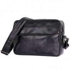 Черная мужская кожаная сумка GMD 1026A