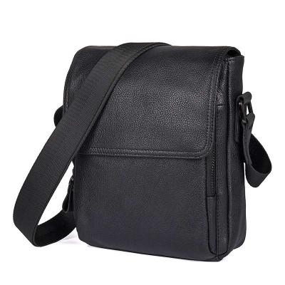 Черная сумка мужская через плечо. мессенджер GMD 1033A