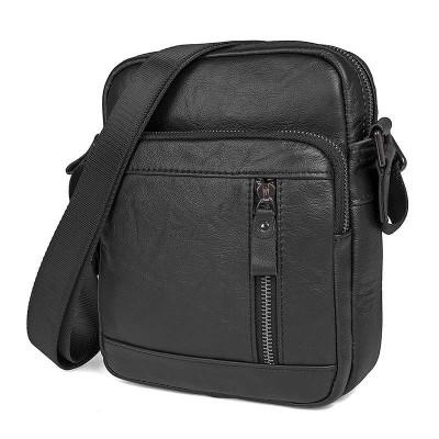 Черная сумка мужская через плечо. мессенджер GMD 1040A