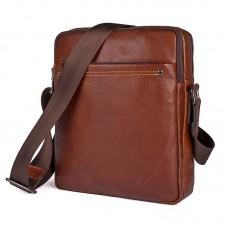 Коричневая мужская кожаная сумка GMD 1043X