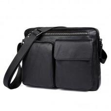 Горизонтальная мужская кожаная сумка GMD 1044A