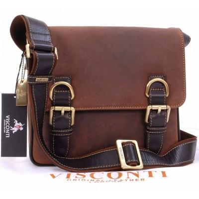 Коричневая сумка мужская через плечо Visconti 16012 Rumba