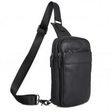 Кожаная сумка мужская через плечо мессенджер GMD 4002A-1