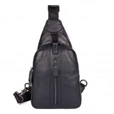 Черная сумка мужская через плечо. мессенджер GMD 4007A