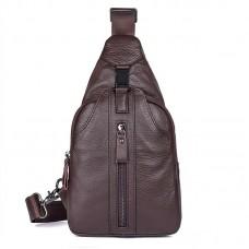 Коричневая сумка мужская через плечо. мессенджер GMD 4007С