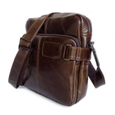 Коричневая сумка мужская через плечо GMD 6012