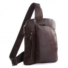 Коричневая сумка мужская через плечо GMD 7194C