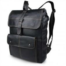 Черный кожаный рюкзак мужской GMD 7335A