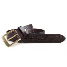 Кожаный ремень мужской (длина 110-135 см) GMD B001Q-1