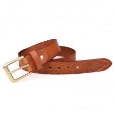 Кожаный ремень мужской (длина 110-135 см) GMD B016B