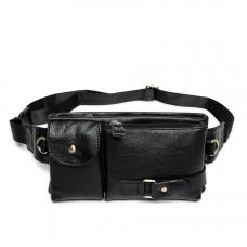Черная кожаная сумка на пояс Bexhill MR9080A