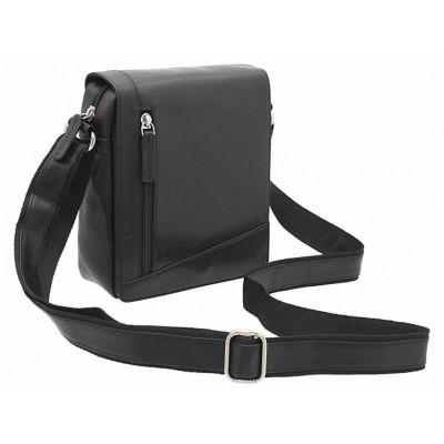 Черная сумка мужская через плечо Vicsonti S7