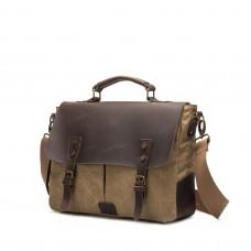 Кожаная тканевая сумка BUG TB396-KH