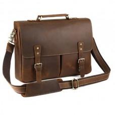 Мужской кожаный портфель TIDING BAG t0016