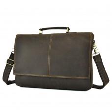 Мужской кожаный портфель TIDING BAG t0019DB