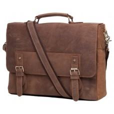 Мужской кожаный портфель TIDING BAG t0002