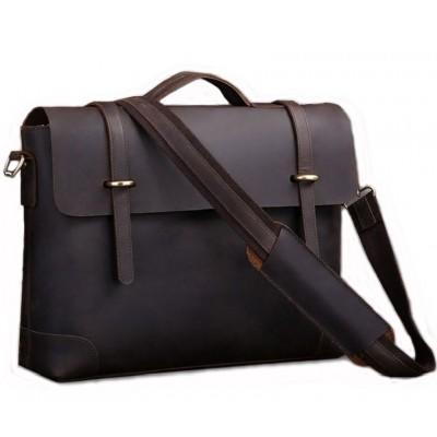 Мужской кожаный портфель TIDING BAG 7082R-1