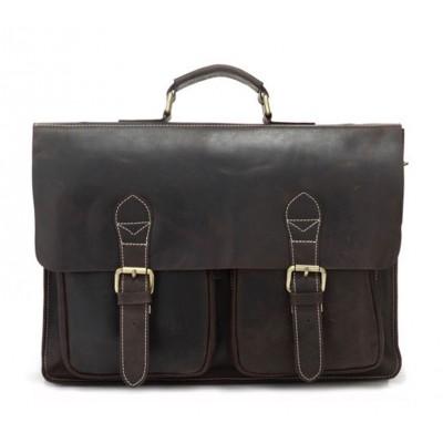 Мужской кожаный портфель TIDING BAG 7105R