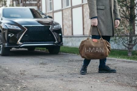 мужская сумка под пальто